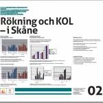 Posterbild Rökning och KOL - i Skåne
