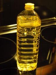 Flaska med matolja