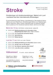 Program för Strokedagarna SUS 2010