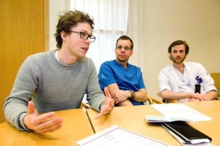David Kylhammar, Göran Rådegran och Petter Hedeling.