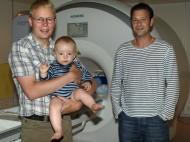 Johan OLsrud med sonen Samuel och Peter Mannfolk