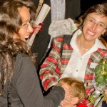 Isabel Goncalves tar emot gratulationer