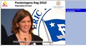 Sofie Westling presenterar postervinnarna