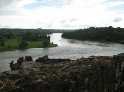 Utsikt över Rio San Juan i sydöstra Nicaragua