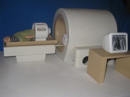 Dockmodell av magnetkamera