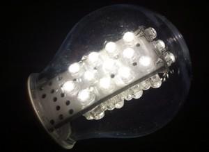 lampa med solljus