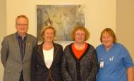 Från vänster Mats Geijer, Rosmarie Klefsgård, Bodil Ivarsson och Karin Eklund