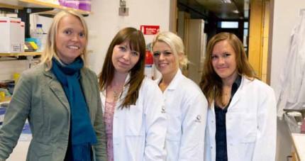 Lena Uller med doktorander