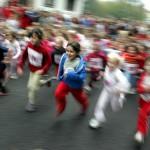 barn som springer, jogginglopp