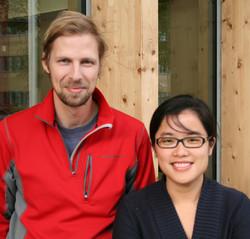Ola Hansson och Yuedan Zhou