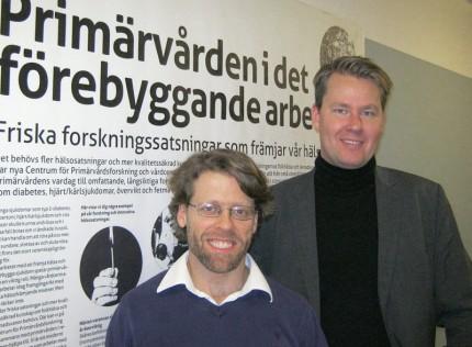 Daniel Arvidsson och Matti Leijon vid Centrum för Primärvårdsforskning
