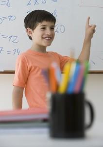 pojke i skolan