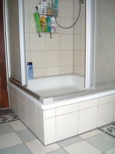 duschplats med kanter