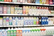 hylla med laktosfria produkter