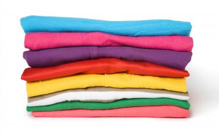 färgade kläder
