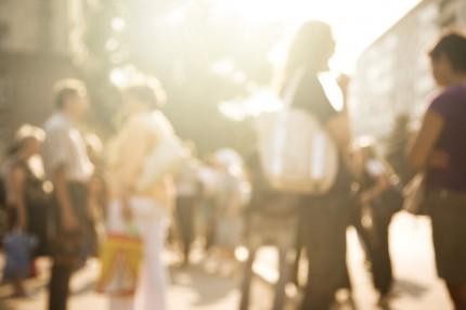 människor på en gata