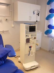 Dialysapparat på Njurkliniken, Skånes universitetssjukhus