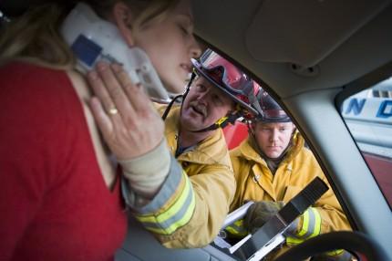 Nackskada i samband med trafikolycka