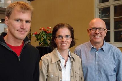 Från vänster Henrik Ohlson, Kristina Sundquist och Jan Sundquist. Foto: Bertil Kjellberg