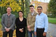 Författarna till den aktuella vetenskapliga artikeln (från vänster): Mattias Belting, Reihaneh Zarrizi, Julien Menard och Ramin Massoumi