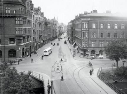 Södra Förstadsgatan 1940-tal. Foto OttoOhm. Från Malmö museers samlingar