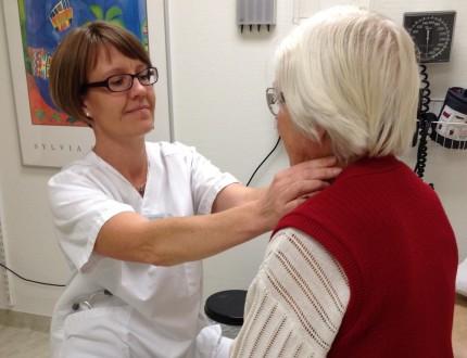 Sara Modig med patient