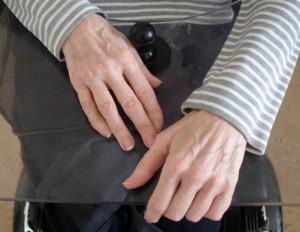 styrspak och hand