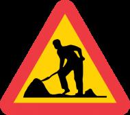 varning vägarbete