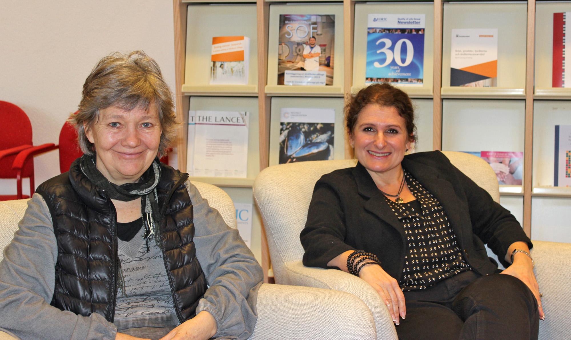 Birgit Rasmussen och Anette Duarte