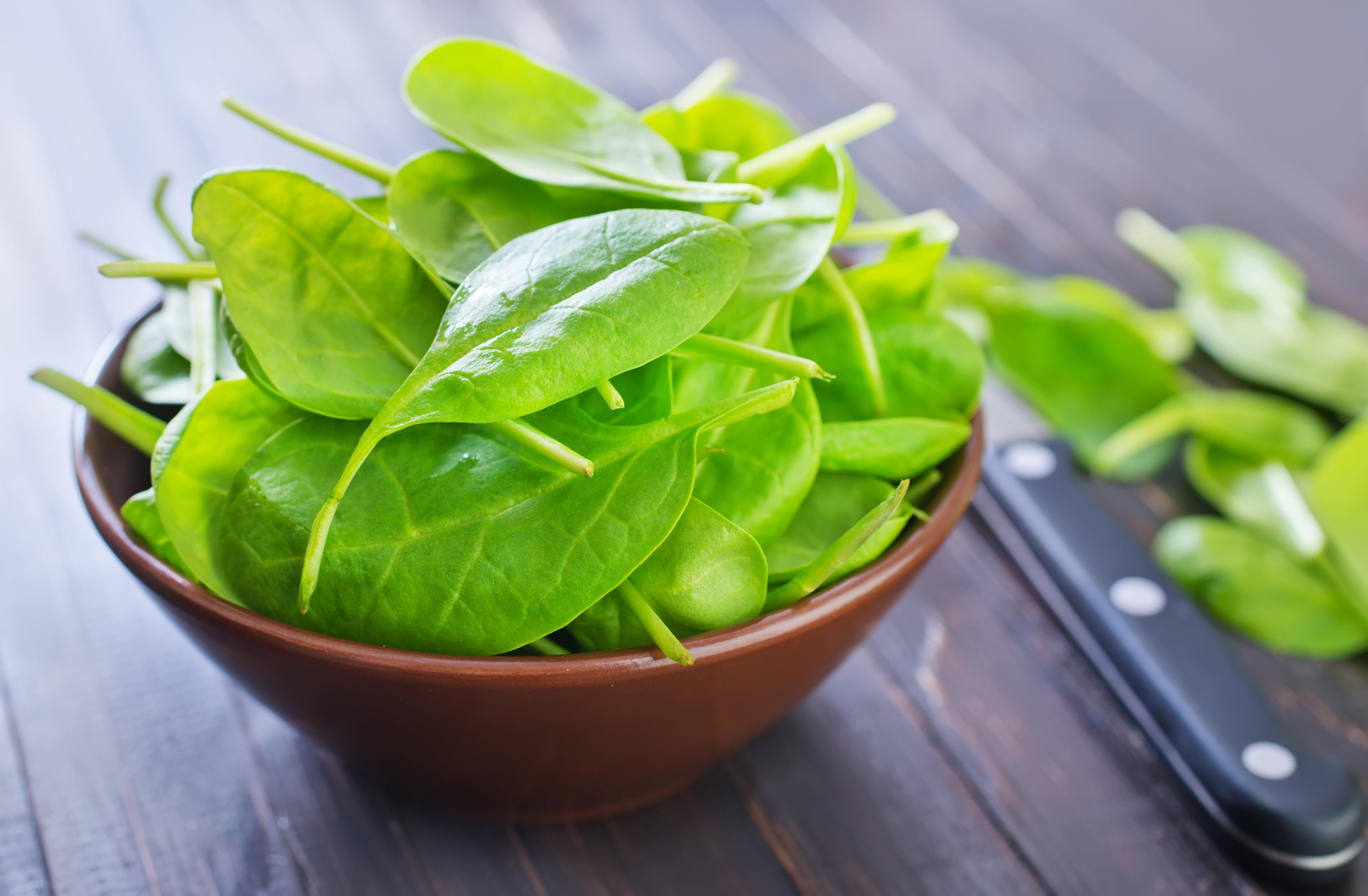 fresh spinach, colourbox