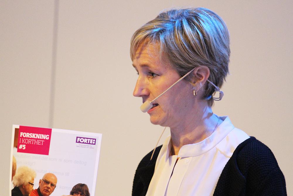 Anna-Karin Engvall, chef för forskning och kommunikation vid Forte - Forskningsrådet för hälsa, arbetsliv och välfärd.