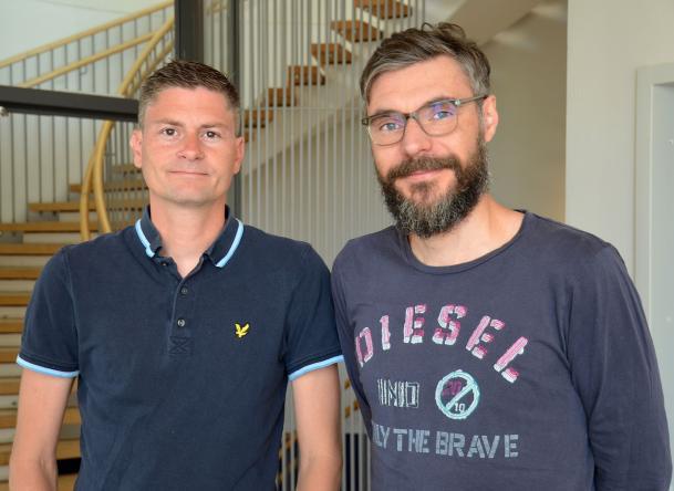 Bilden föreställer Göran Jönsson och Cristian Bellodi.