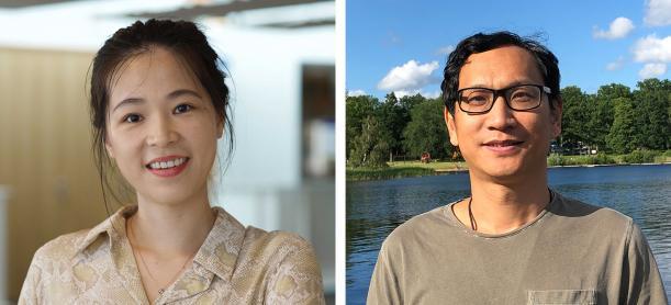 Bilden föreställer forskarna Wuqing Huang och Jianguang Ji.