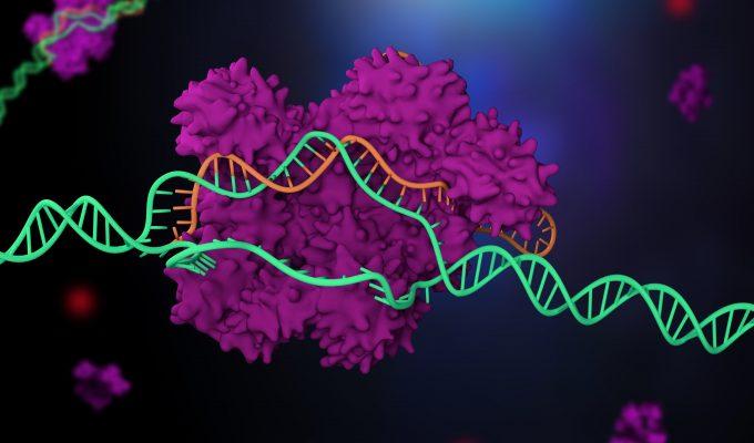 Bilden är en illustration av CRISPR