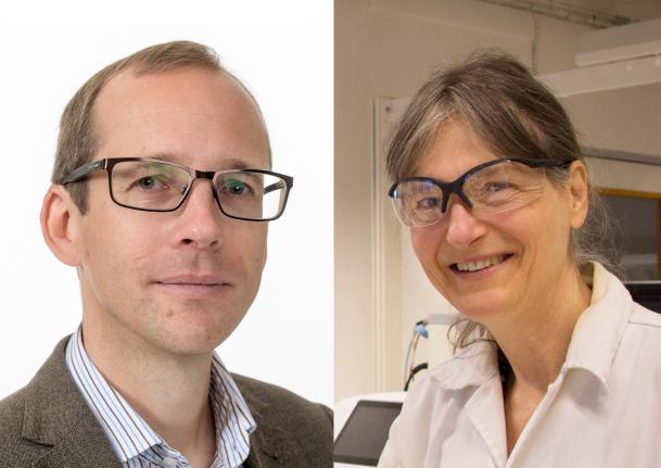 på bilden ses Oskar Hansson och Sara Linse